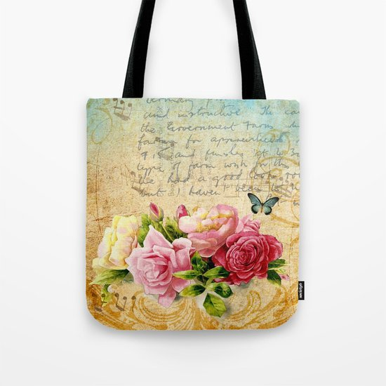 Vintage Roses #1 Tote Bag