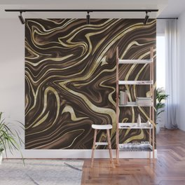Brown Gold Marble #1 #decor #art #society6 Wall Mural