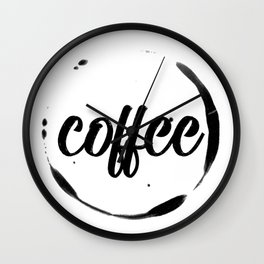 coffee stained Wall Clock
