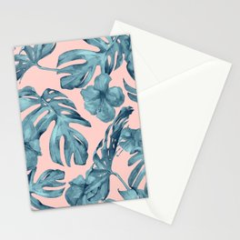Island Life Teal on Light Pink Stationery Cards
