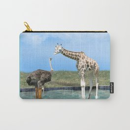 The Ostrich with Galoshes Carry-All Pouch