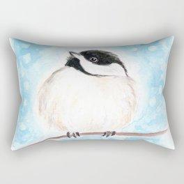 Cute Chickadee Watercolor Rectangular Pillow