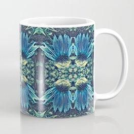Blue Echinacea, Teal Cone Flowers, Blue Flower Dream Coffee Mug