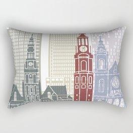 Amsterdam V2 skyline poster Rectangular Pillow