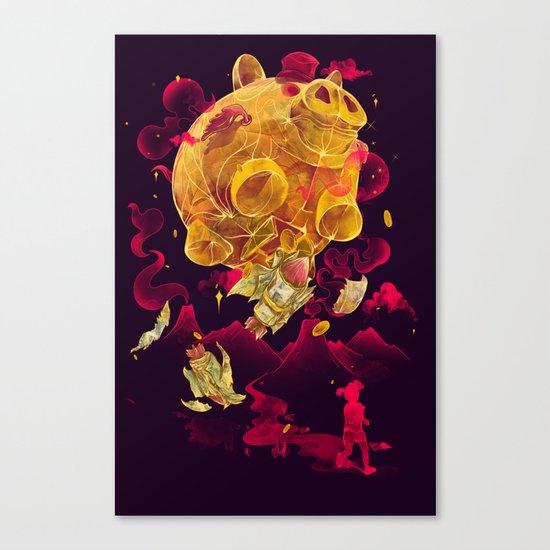 Piggy Boom Canvas Print