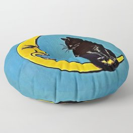 Black Cat & Moon Floor Pillow