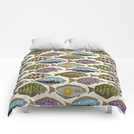 Alaskan halibut pearl Comforters