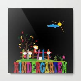 Kindergarten Picture Gift Idea Design Motif Metal Print