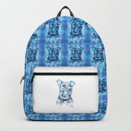 """""""Hank"""" the Rescue Blue Nose Pitbull Staffordshire Terrier BACKPACK Backpack"""
