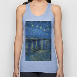 Starry Night Over the Rhone Unisex Tank Top