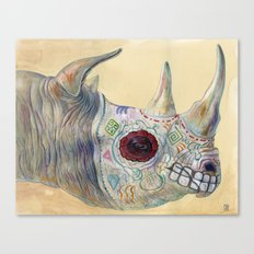 Day of the Dead Rhino Canvas Print