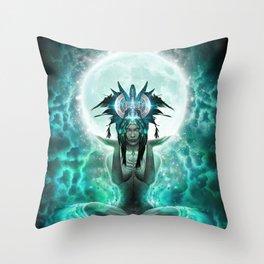 Selene - Moon Goddess - Visionary Art - Manafold Art Throw Pillow
