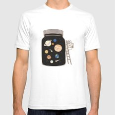 confined space SMALL White Mens Fitted Tee