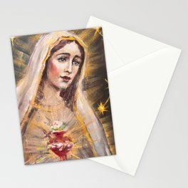Immaculate Heart of Our Lady of Fatima Stationery Cards