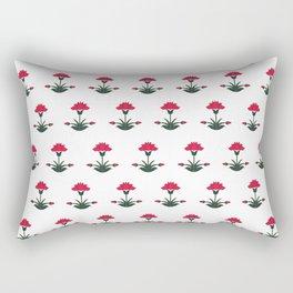 Mughal Flower Motif Rectangular Pillow