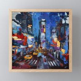 Saturday Night in Times Square Framed Mini Art Print