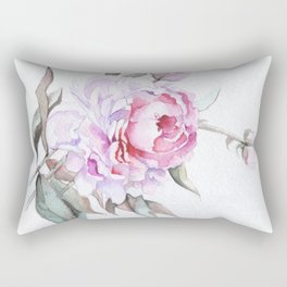 A single Pink Rose - Beautiful Flower Rectangular Pillow