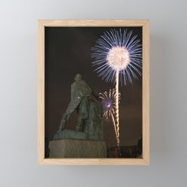 Fisherman's Memorial fireworks Framed Mini Art Print