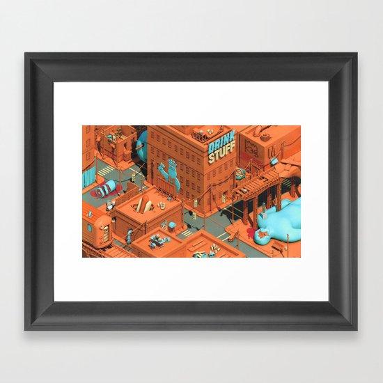 Murdertown - Soda Row Framed Art Print