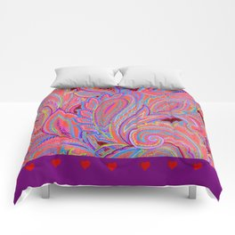 paisley heart  Comforters