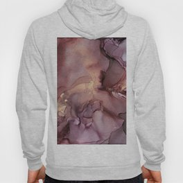Ink Swirls Painting Lavender Plum Gold Flow Hoody