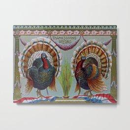 Thanksgiving Greetings 1906 Metal Print