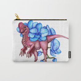 O is for Oviraptor and Orchid Carry-All Pouch