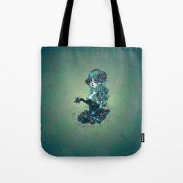 Sugar skull girl in blue Tote Bag
