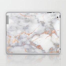 Grey Marble Rosegold  Pink Metallic Foil Style Laptop & iPad Skin