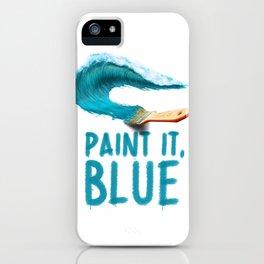 Paint It, Blue iPhone Case