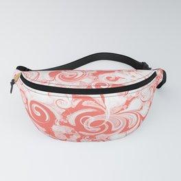 Fresh Splash & Swirls Pattern — Coral Fanny Pack