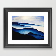 Mountain Landscape. Framed Art Print