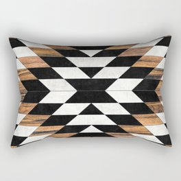 Urban Tribal Pattern No.13 - Aztec - Concrete and Wood Rectangular Pillow