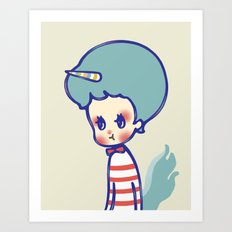 why are you angry? Art Print