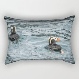 Tufted Puffin Pair Rectangular Pillow