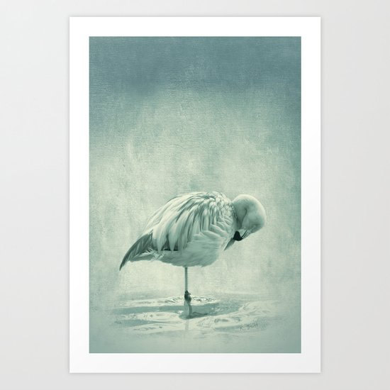 Flamingo Blues Art Print