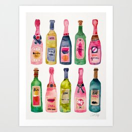 Champagne Collection Art Print