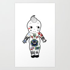 Tattooed Baby  Art Print