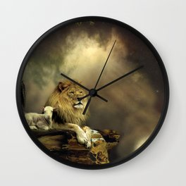The Lion & the Lamb Wall Clock