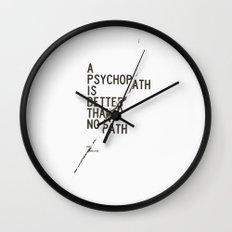 Psychopath Wall Clock