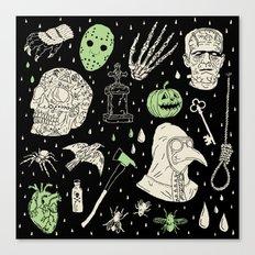 Whole Lot More Horror: BLK Ed. Canvas Print