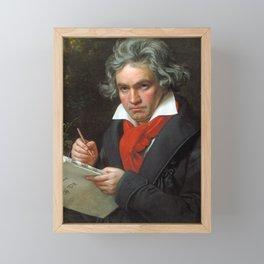Ludwig van Beethoven Portrait - Joseph Karl Stieler Framed Mini Art Print