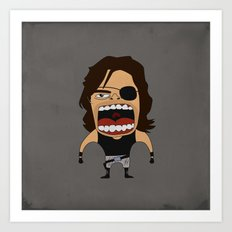 Screaming Snake Plissken Art Print