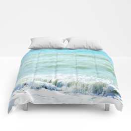 frothy surf (thank you, moon) Comforters