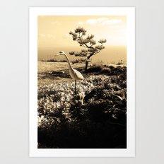 Master in Sepia Art Print