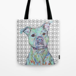 Staffy Portrait Tote Bag