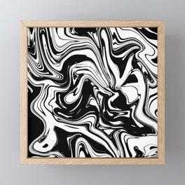 Liquid Marble B&W 028 Framed Mini Art Print