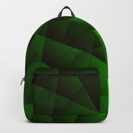 Bright contrasting green fragments of crystals on triangles of irregular shape. Backpack
