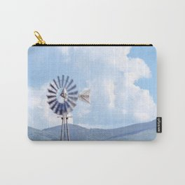 """Blue Windmill Blue Sky"" by Murray Bolesta Carry-All Pouch"