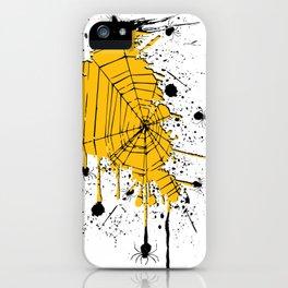 Spiderweb spiders ink splash iPhone Case